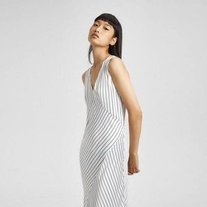 Theory relaxed striped slip dress